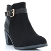 47245 - XTI BLACK SUEDE ANKLE BOOTS WITH STUD DETAIL