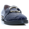 A-7231 - WONDERS NAVY PATENT LOAFERS