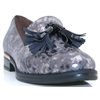A-7230 - WONDERS GREY LEOPARD LOAFERS