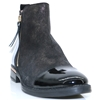 A-7233 - WONDERS BLACK SHIMMER AND BLACK PATENT ANKLE BOOTS