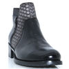 2374 - JOSE SAENZ BLACK AND PEWTER ANKLE BOOTS