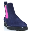 6290 - PANACHE NAVY AND FUCHSIA CHELSEA BOOTS
