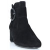 91.694 - GABOR BLACK SUEDE ANKLE BOOTS