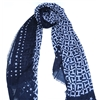 TH Monogram - Tommy Hilfiger NAVY AND GREY LOGO SCARF