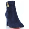 Amber - KATE APPLEBY NAVY ANKLE BOOTS WITH BEE EMBELLISHMENT