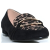 Lorna - LUNAR BLACK AND LEOPARD PRINT SLIP ON SHOES