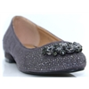 Faine - LUNAR GREY DIAMANTE PUMPS