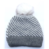 3-3273 - DENTS GREY AND WHITE STRIPE HAT