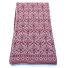 4-2761 - DENTS SILVER AND CLARET PRINT SCARF