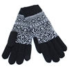 6-3230  - DENTS BLACK AND GREY PRINT GLOVES