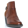 55292 - RIEKER BROWN ANKLE BOOTS