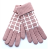 6-3228 - DENTS PINK CHECK GLOVES