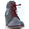 1287-504 - MUSTANG GREY MULTI ANKLE BOOTS