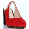 09707 - MENBUR RED AND LEOPARD PRINT SLINGBACK HEELS