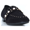 435963 - SPROX BLACK LOAFERS WITH PEARLS