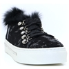 3752 - ALPE BLACK TRAINERS WITH FUR LINING