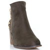 Alta Two - ESCAPE OLIVE ANKLE BOOTS WITH STUDS