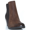 25314-21 - MARCO TOZZI BROWN MULTI ANKLE BOOTS