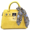 CG718206 - GUESS YELLOW CROC HANDBAG