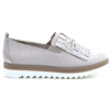 24703-32 - MARCO TOZZI BEIGE SLIP ON SHOES WITH PEARL DETAILS