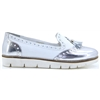 TALLIS - LUNAR WHITE AND SILVER LOAFERS