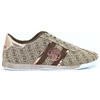 FL6RYN FAL12 - GUESS BROWN LOGO PRINT TRAINERS
