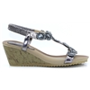 Cally - LUNAR PEWTER WEDGES