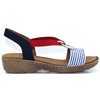 22-57264 - JENNY BY ARA NAVY AND RED MULTI SANDALS