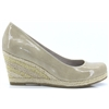 22440-22 - MARCO TOZZI BEIGE PATENT WEDGES