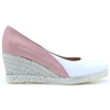6029 - JOSE SAENZ PINK AND WHITE WEDGES