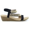312-11 - REDZ BLACK LOW WEDGE SANDALS