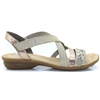 V3463 - RIEKER BEIGE AND GOLD SANDALS