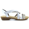 V3463 - RIEKER GREY AND SILVER SANDALS