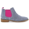4669 - NICOLA SEXTON GREY AND PINK CHELSEA BOOTS