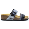 Hayley - ADESSO BLACK AND PEWTER SANDALS