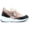 BK1992 - VANESSA WU BLACK AND BLUSH SLIP ON TRAINERS