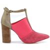 Half Magic - BOURBON CORAL ANKLE BOOTS