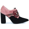 Sela-SR - LODI BLACK AND BLUSH SHOE BOOTS