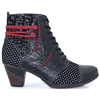 D8786 - REMONTE BLACK AND RED ANKLE BOOTS