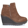66976 - CARMELA BROWN SUEDE WEDGE ANKLE BOOTS
