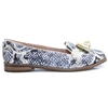 Elive - Moda In Pelle Gold Snake Print Loafers
