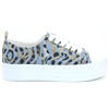 FL6BR6 DEN12 - Guess Blue and Zebra Print Trainers