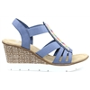 65568-14 - Rieker Blue Wedges