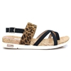 28134-24 - S.Oliver Black and Leopard Print Sandals