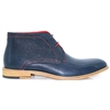 Greenville - JUSTIN REECE NAVY ANKLE BOOTS