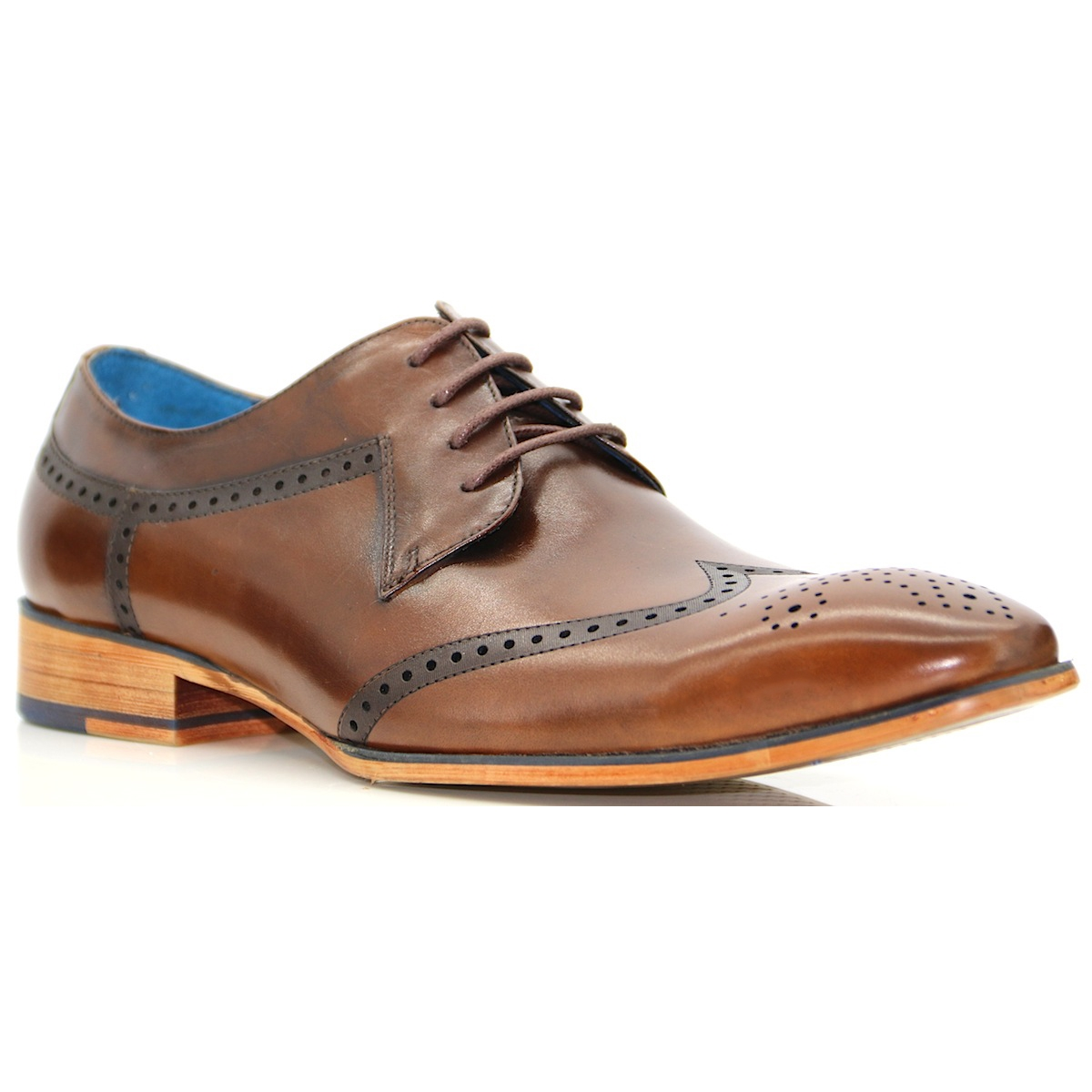 nyland paolo vandini brown brogue www panache shoes