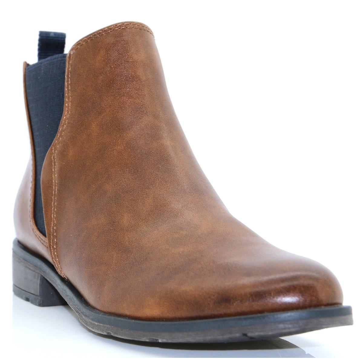25040 29 marco tozzi cognac chelsea boots. Black Bedroom Furniture Sets. Home Design Ideas