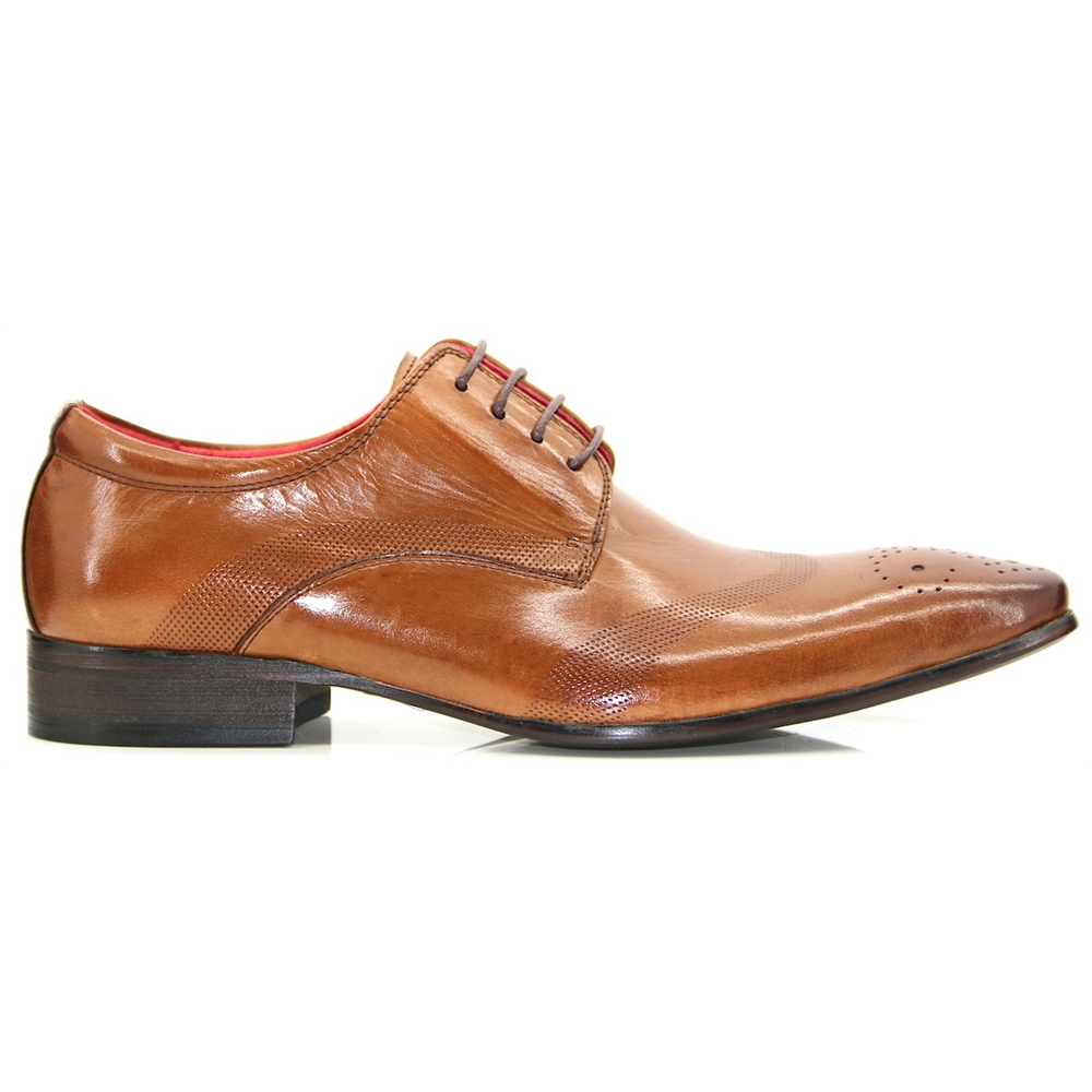 WOLF - PAOLO VANDINI Tan Oxford With Brogue Detail