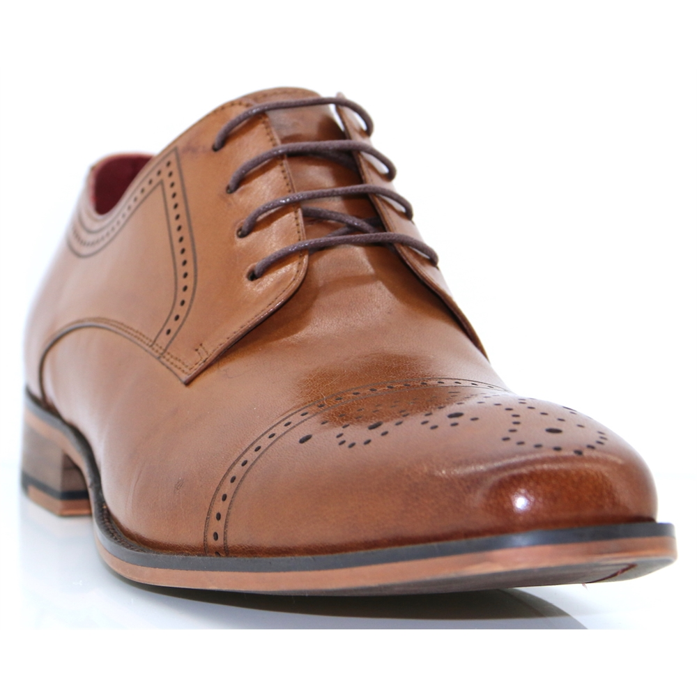 Potterson - ESCAPE CARAMEL BROGUES