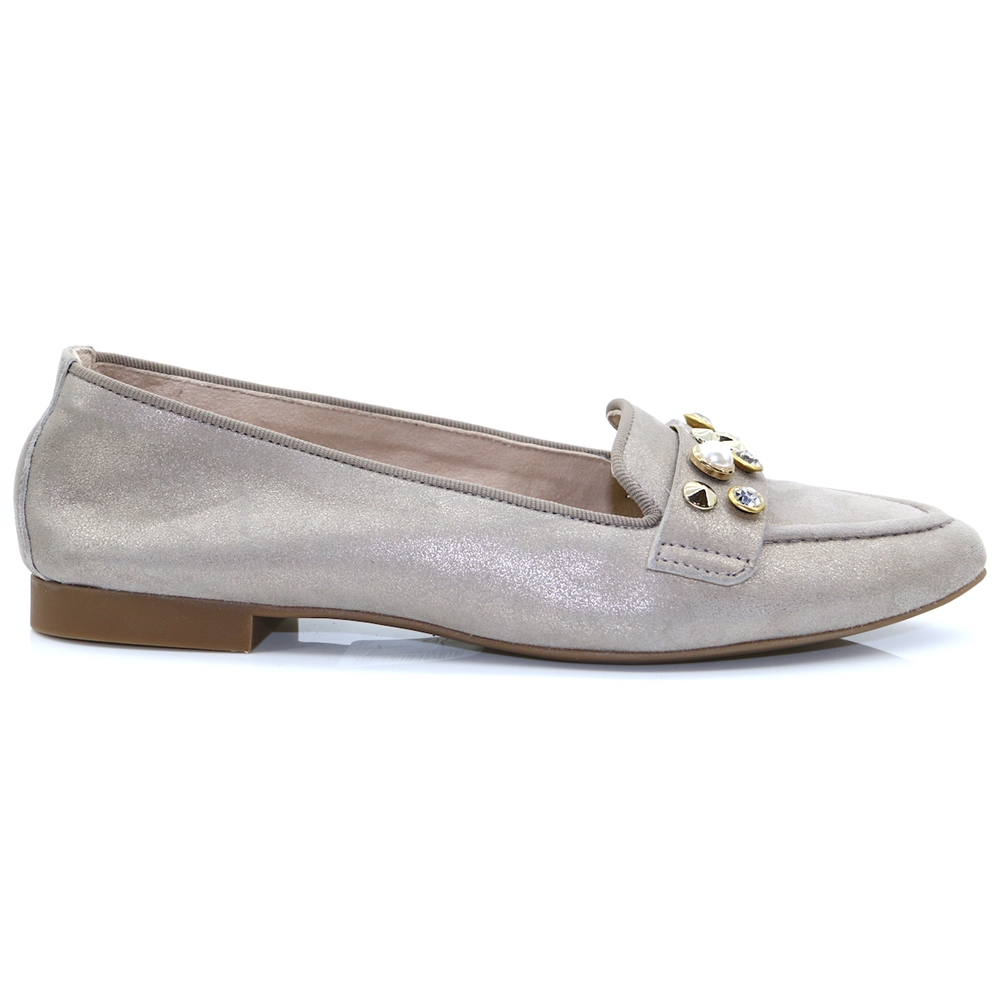 2375 - PAUL GREEN CHAMPAGNE SLIP ON SHOES